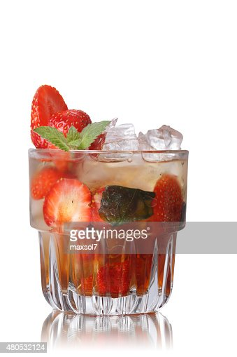 Strawberry mint smash : Stock Photo