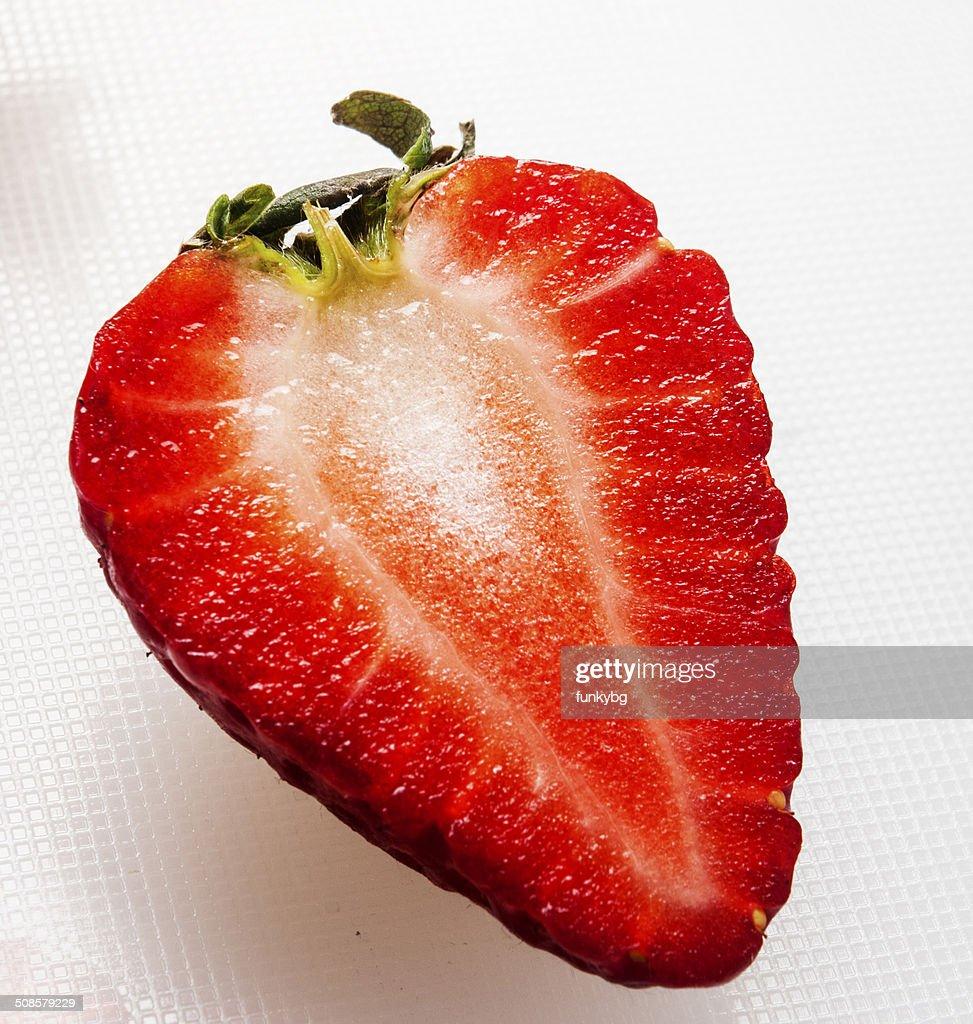 Erdbeeren auf weißem Hintergrund : Stock-Foto