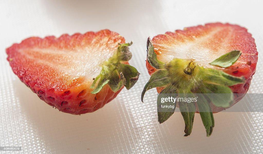 strawberry on white background : Stock Photo