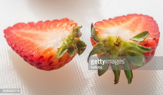 strawberry on white background : Stockfoto