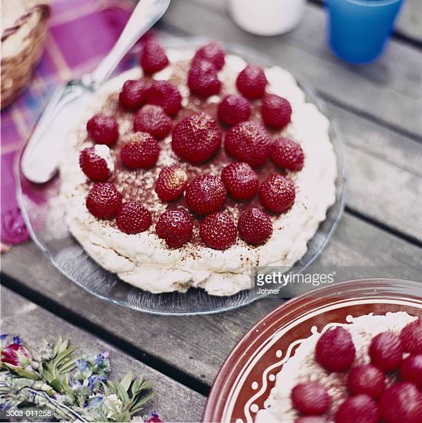 Strawberry Pavlovas