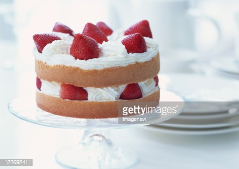 Strawberry shortcake on stand