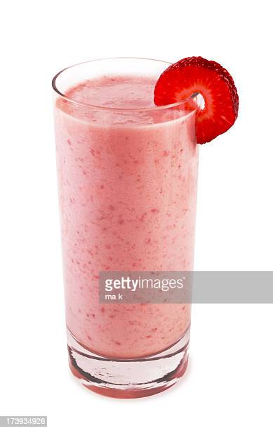 Strawberry smoothie with fruit