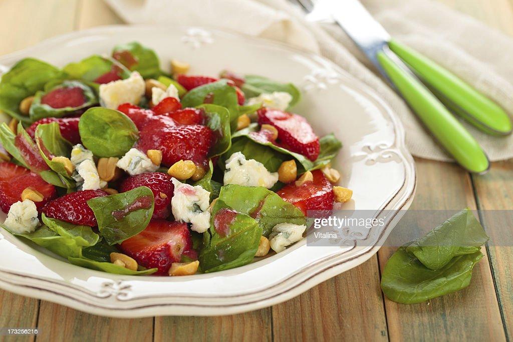 Strawberry Spinach Salad. : Stock Photo