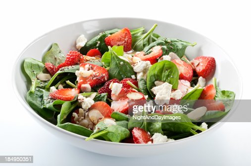 Strawberry Spinach Salad : Stock Photo