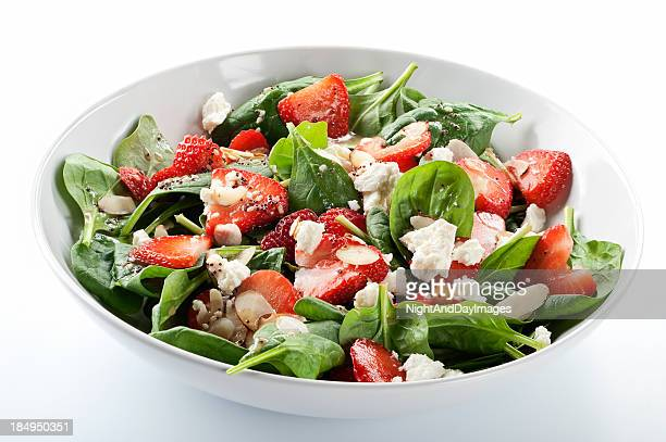 Strawberry salade d'épinards