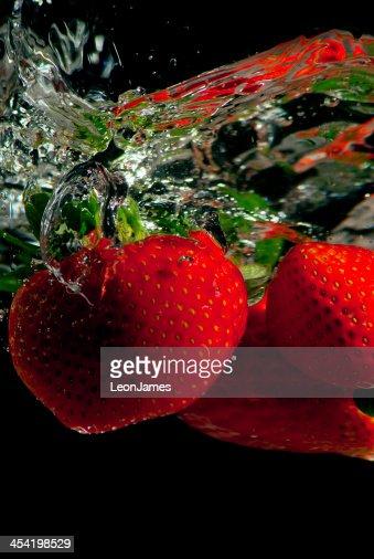 Strawberry Splash : Stock Photo
