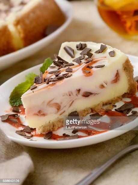 ストロベリーの渦巻きチーズケーキ