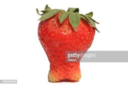 Strawberry-Metaphor as hard teeth : Stock Photo