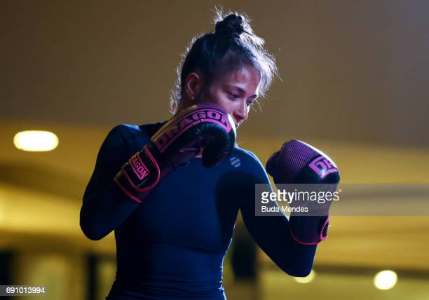 UFC strawweight contender Karolina Kowalkiewicz of Poland holds an open training session at Barra Shopping on May 31 2017 in Rio de Janeiro Brazil