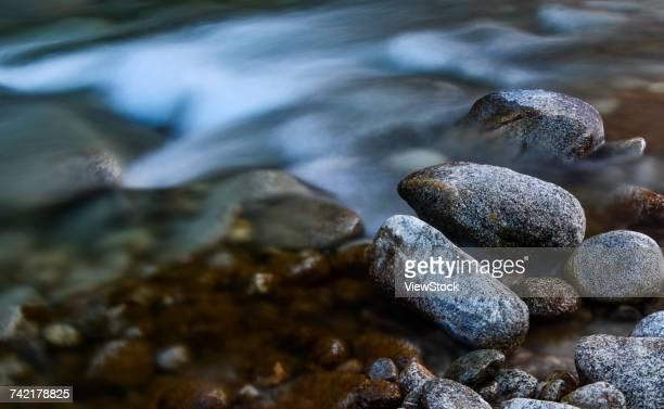 Stream and stone in Tibet,China