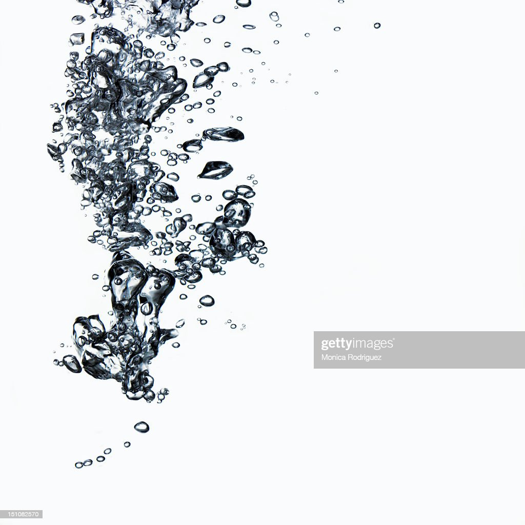Stream of Bubbles in Water : Stock Photo
