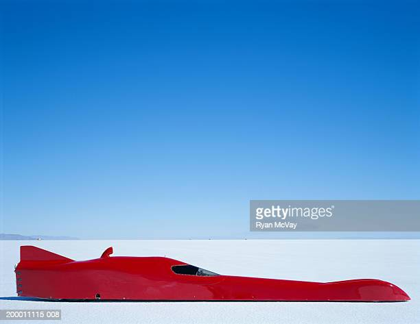Streamliner racecar, side view, Bonneville Salt Flats, Utah, USA