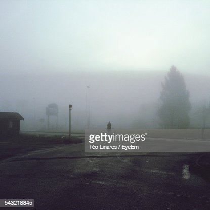 Street Against Sky During Foggy Weather