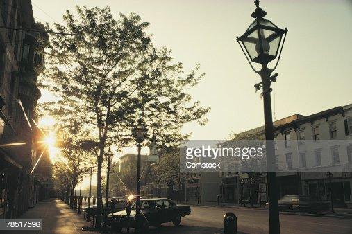 Street and buildings , Stroudsburg , Pennsylvania