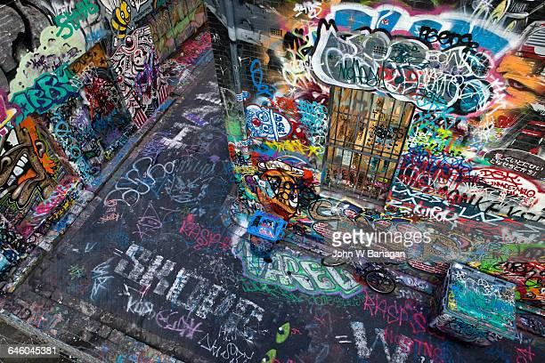 Street art Graffiti laneway . Melbourne