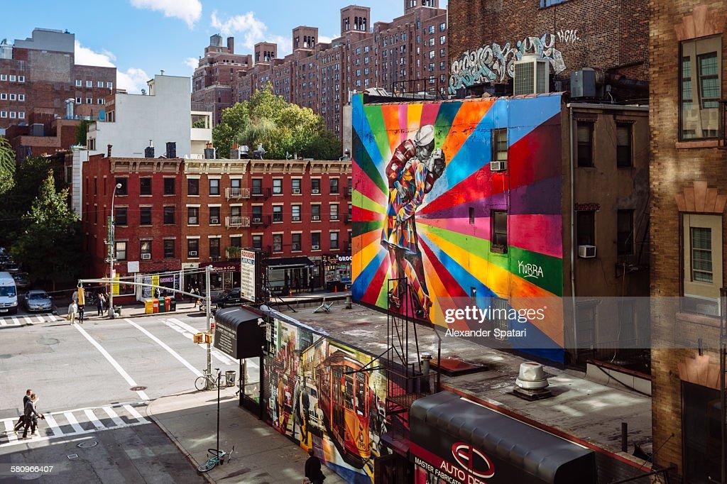 Street art in Chelsea, Manhattan, New York City