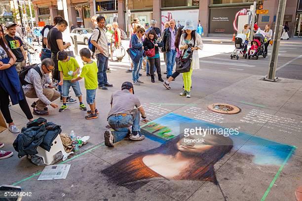Straße Künstler Zeichnung für Spenden