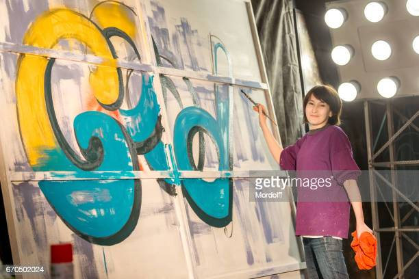 Street Artist Woman