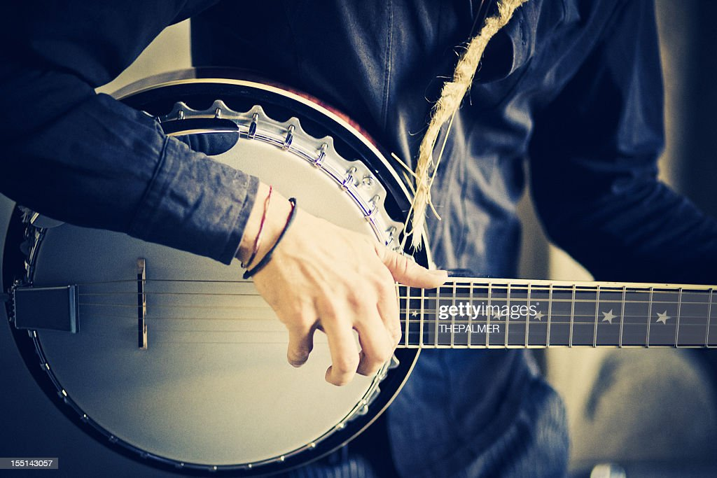street banjo player : Stock Photo