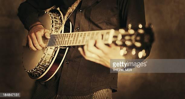 Rue banjo joueur