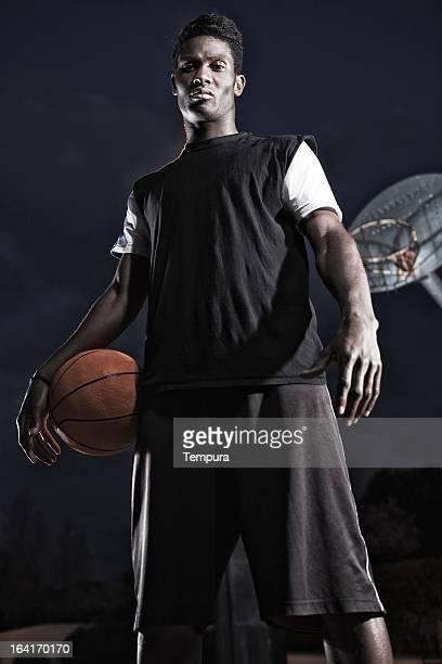 Calle de la jugadora de baloncesto.