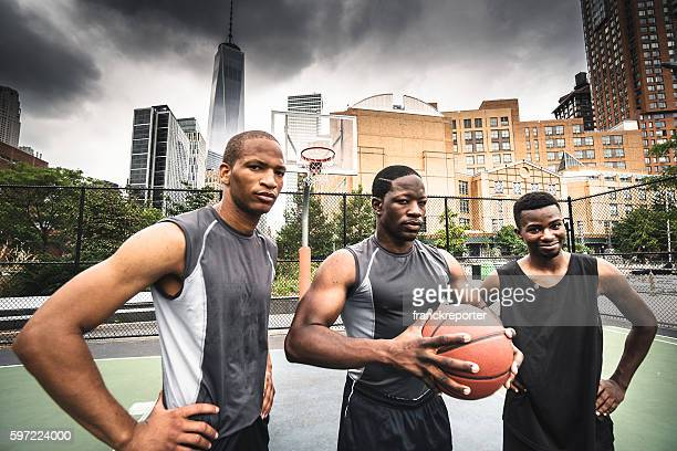 street basketball squad on the court