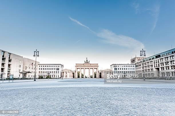 Street By Brandenburg Gate Against Sky