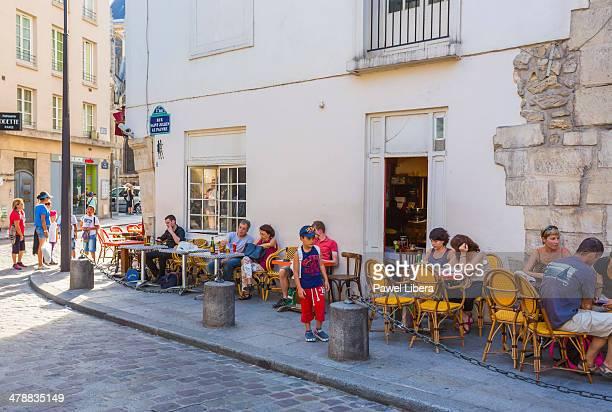street cafe in Parisian Latin Quarter.