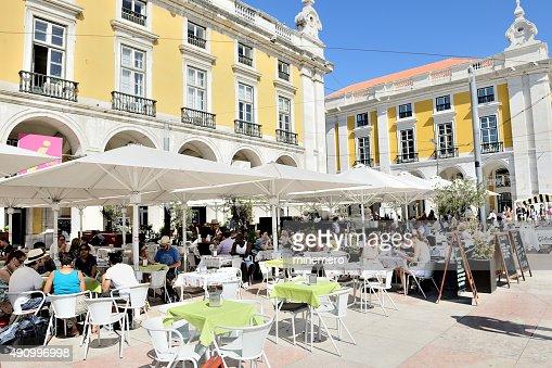 Street cafes and restaurants in Lisbon