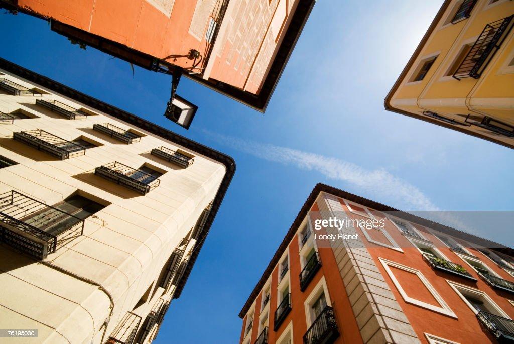 Street corner in the Lavapies neighbourhood, Madrid, Comunidad de Madrid, Spain, Europe : Stock Photo