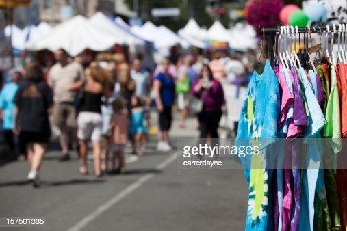 Street Fair or Festival, Summer Fun at an outdoor carnival