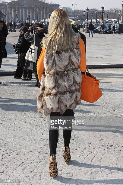 Street Fashion Styles during Paris Fashion Week Fall/Winter 2012 on March 4 2011 in Paris France