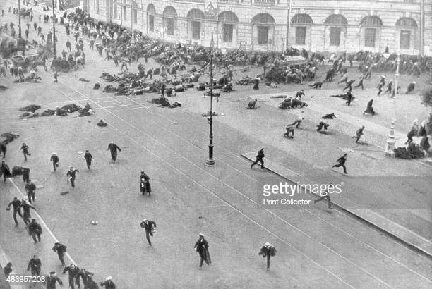 Street fighting in Petrograd Russia 17th July 1917 An outbreak of violence in the city in the period between the February and October Revolutions