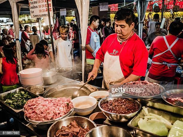 Street food stall Chinatown Bangkok