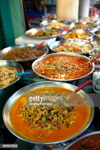 Street food stall in Bangkok : Stock Photo
