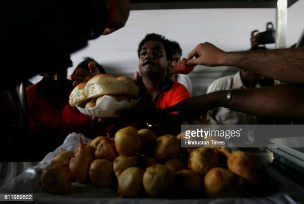 Street Food Vada Pav Shiv Sena on Thursday launched its own brand of vada pav called Shiv Vada at Shiv Sena Bhavan The first stall owner from Mulund...