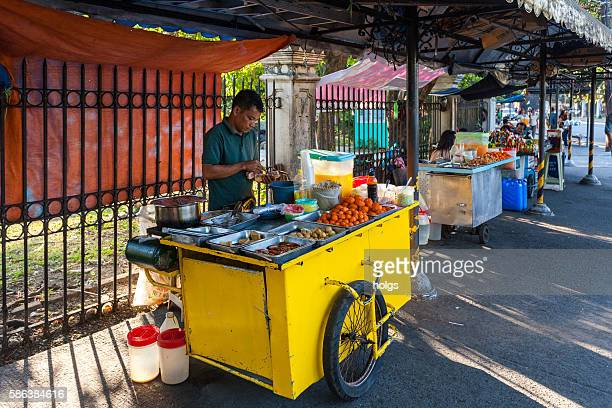 Street food vendor in Manila, Philippines