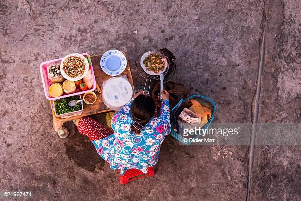 Street food vendor in Vietnam