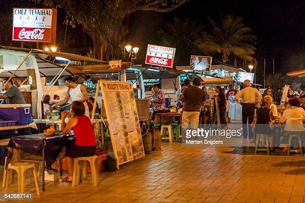 Street food vendors in Papeete