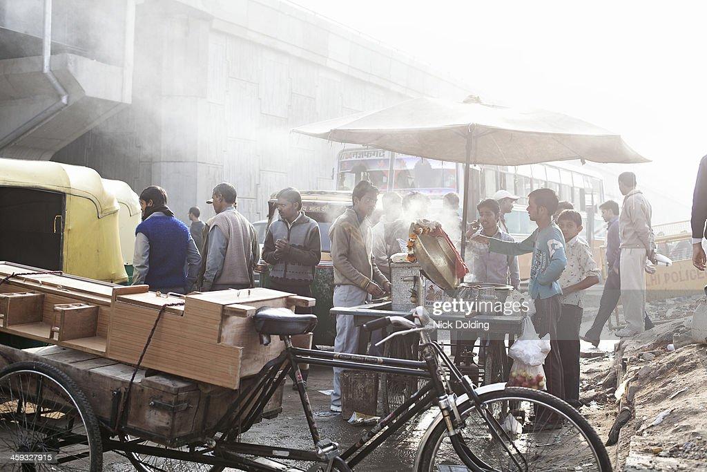 Street food vendors New Delhi