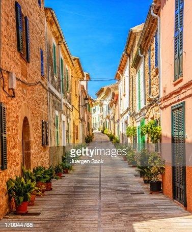 Street in Alcudia (Mallorca)