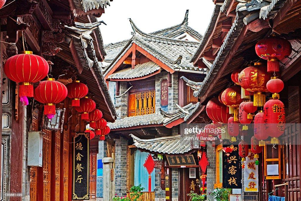 Street in ancient Lijiang old town,Lijiang,Yunnan