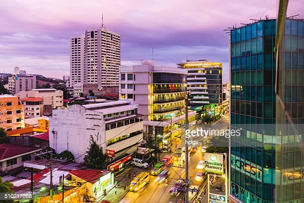 Street in Cebu City during twilight