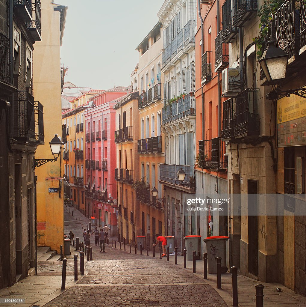 Street in central Madrid : Stock Photo