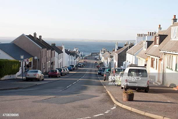Street in coastline town
