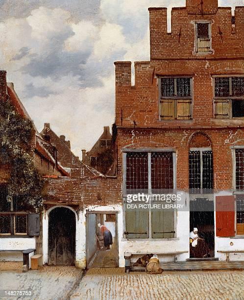 Street in Delft 16571658 by Jan Vermeer oil on canvas 54x44 cm Amsterdam Rijksmuseum