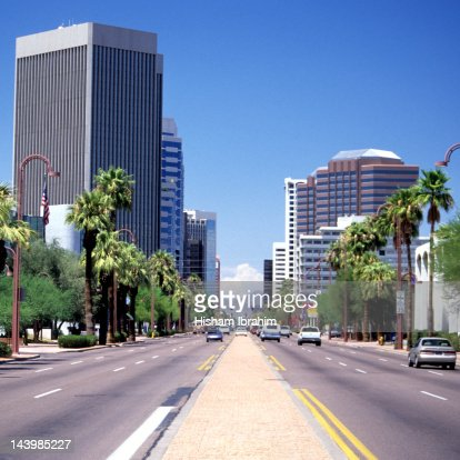 Street in downtown district, Phoenix, Arizona, USA : Stockfoto