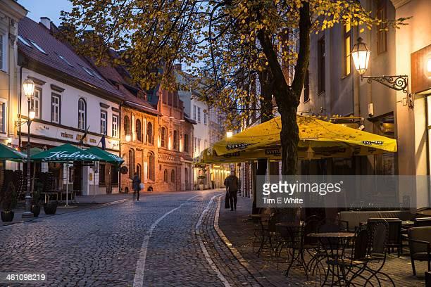Street in early morning, Vilnius, Lithuania