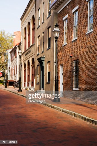 Street in front of buildings, Annapolis, Maryland, USA